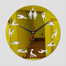DIY Bachelorette Adult Room Decorative Wall Clock Love Position Mirror S... - $23.91+