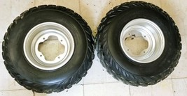 1999 Yamaha Warrior 350 Front Tires and Wheels 22x10 -9 D - $74.79