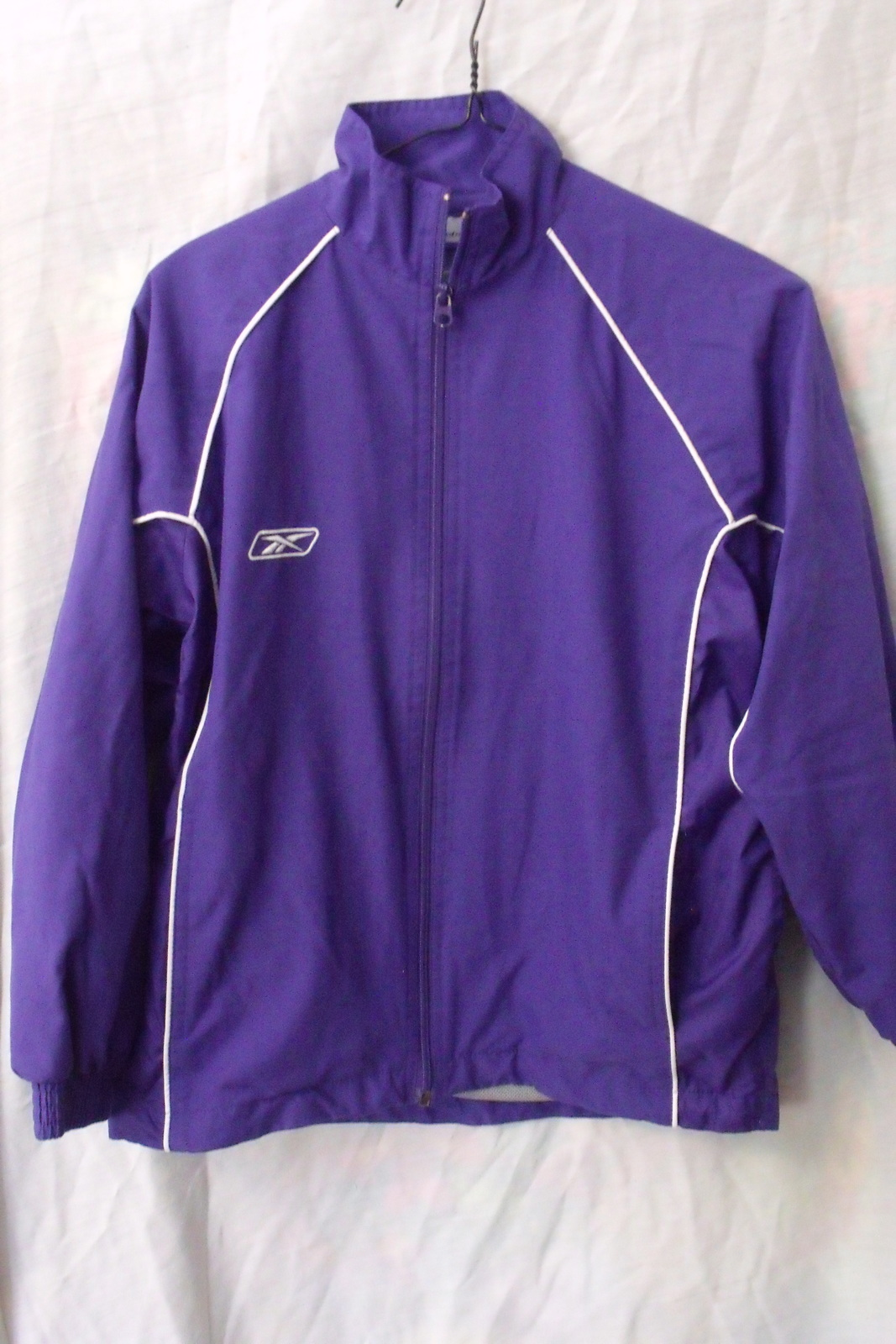 Primary image for Boys Reebok NWOT Purple with White Trim Long Sleeve Windbreaker Jacket Size L
