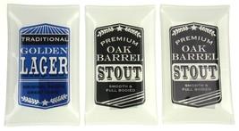 Oak Barrel Stout Golden Lager Glass Trinket Trays Set 3 Dennis East DEI ... - $3.39