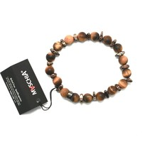 Silver Bracelet 925 Hematite Tiger's Eye BWI-2 Made in Italy by Maschia image 1