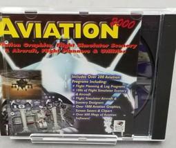 Aviation 2000 Flight Simulator PC Game Microsoft CD-Rom + Air Force One  - $30.39