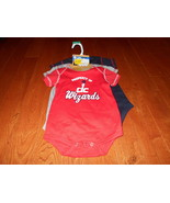 NBA Official 6/9M Washington Wizards Baby Infant 3 Pc. Creeper Bodysuit ... - $19.79