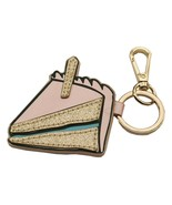 Piece Of Cake Purse Charm Handbag Key FOB Sweet Cakes Key Chain With Gol... - £9.82 GBP