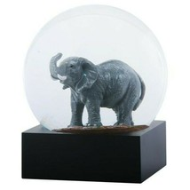 YTC 4.5 Inch Grey Elephant with Trunk Lifted and Tusk in Water Globe - $19.79