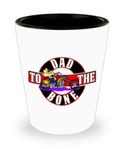 Dad To The Bone Shot Glass Gift For Dad Fathers Day Regalo para el pap D... - $11.99