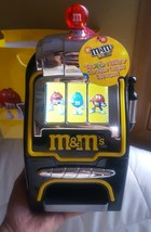 M&M's World Slot Machine Chocolate Candy Candies Dispenser New with Tags - $79.19
