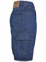 Men's Premium Cotton Multi Pocket Relaxed Fit Stonewash Denim Jean Cargo Shorts image 13
