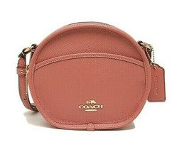 NWT COACH Canteen Crossbody Pouch Bag Cute Rose Petal Pink Gold F75516 I... - $100.98