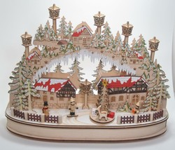 "16.5"" Musical LED Village Kurt Adler Christmas Holiday Winter Tabletop Decor - $94.00"