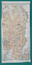 "1925 BAEDEKER MAP - GERMANY Kiel City Plan 6 x 8.5"" (10 x 21 cm) for gen... - $8.55"
