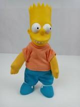 "Vintage 1990 The Simpsons Bart Simpsons 8"" Plush W/ Vinyl Face Burger King Toy - $10.69"