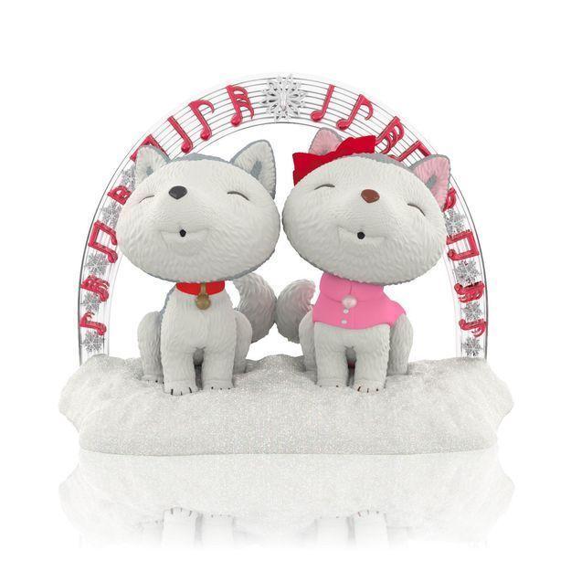 Jingle and Bell's Christmas Sing-Along 2014 Hallmark Ornament Husky Dogs Carols