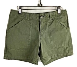 TOMMY HILFIGER Jeans Women Chino Olive Moss Green Camo 4 Pocket Shorts S... - $39.95