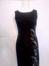 Jessica Howard Womens Polyester Dress Petite Black Flowers Floral Design - $13.09