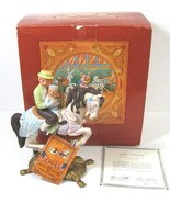 VTG American Carousel Tobin Fraley PTC Jumper with Father & Son Horse Fi... - $32.66