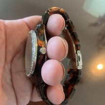 FOSSIL Ladies Brown Tortoise Shell Multifunction Watch NEW BATTERY image 2
