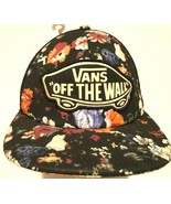 VANS Off The Wall Adult Unisex Black Mesh Hawaiian Baseball Cap One Size... - $24.74