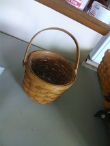 Longaberger Small Apple Basket  Movable Handle and Plastic Protector - 1994 - $9.15