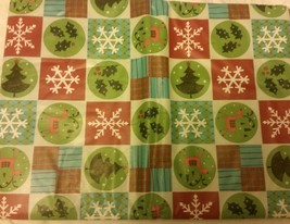 "Superior Tablecloth Flannel Back, 52"" x 90"", WINTER CHRISTMAS THEME SQUARES - $15.83"