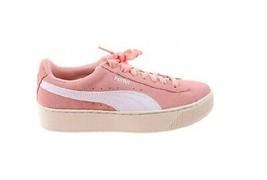 Puma Damen Vikky Plattform SD Schuhe Pfirsich Knospe Weiß Rosa Größe EU 39 - $71.68