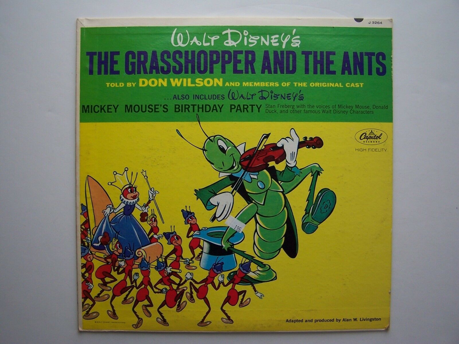 Primary image for Walt Disney's The Grasshopper And The Ants / Mickey Mouse's Birthday Party Vinyl