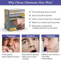 Nose Wax Kit for Men and Women, Nose Hair Removal Wax 50 grams / 10 times usage  image 3