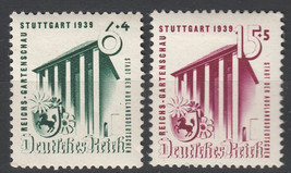 1939 Reich Garden Set of 2 Germany Postage Stamps Catalog Number B138-39 MH