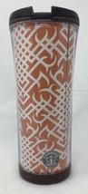 Starbucks Coffee 2004 / 2006 16oz Tribal Print Tumbler Dark Rust Orange ... - $10.69