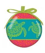 Cape Shore Coastal Color Sea Turtle High Gloss Resin Hanging Ornament - $10.77