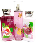 Bath and Body Works Brown Sugar & Fig Gift Set of 3 Body Lotion, Mist, B... - $31.19