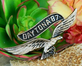 Vintage Daytona 1987 Motorcycle Rally Soaring Eagle Pin Jacket Biker image 9