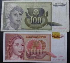 Two Yugoslavia Notes - $1.95