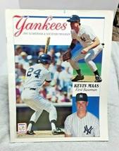 1991 New York Yankees Scorebook Magazine Kevin Maas Unscored vs Rangers - $9.50