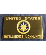 US Intelligence Community w USIC Emblem Black Marble Desk Plaque Signage... - $54.45