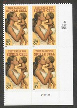 2004 Sickle Cell Disease Awareness Plate Block of 4 US Stamps Catalog 3877 MNH