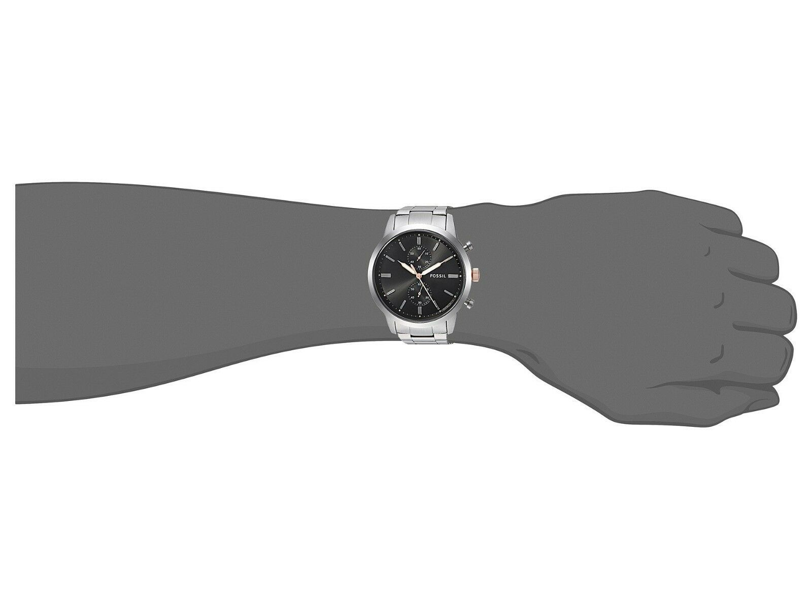 New Fossil Men's Townsman Chronograph Stainless Steel Watch Variety Color image 9