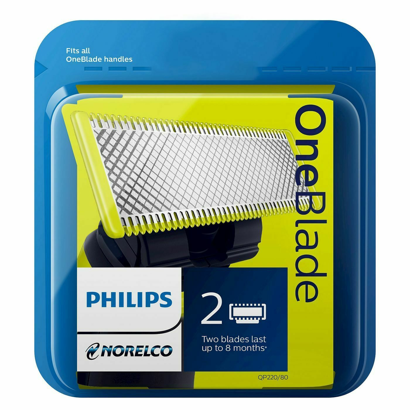 Primary image for Philips Norelco OneBlade Replacement Blade 2ct - QP220/80