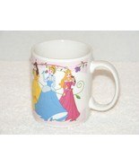 DISNEY 3 PRINCESSES AURORA CINDERELLA & BELLE CERAMIC COFFEE MUG (GB01) GUC - $7.99