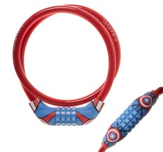 Marvel CAPTAIN AMERICA Cable Security Combination Lock Bicycles AVENGERS... - $7.99