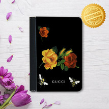 Flower Art Leather Passport Cover - Passport Holder Case - Vacation/Trav... - $15.74