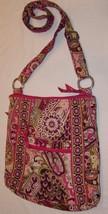Vera Bradley Sehr Himbeere Paisley Schultertasche Messenger Handtasche - ₹2,089.93 INR