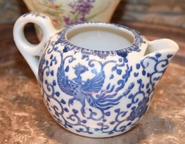 Vintage Blue & White Phoenix China Birds Small Creamer Cream Pitcher Japan - $22.99