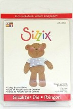 Sizzix Sizzlits Teddy Bear with Shirt Die #654356