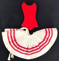 Vintage Barbie Clothing dancing red skirt and body shirt - $11.21