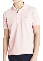 NEW LACOSTE MEN'S PREMIUM SPORT COTTON POLO SHIRT T-SHIRT MARINE FLAMINGO PINK