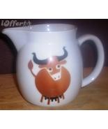 SCANDINAVIAN(FINNISH) MODERN-ARABIA BROWN BULL / COW (HELUNA) PITCHER - $17.45
