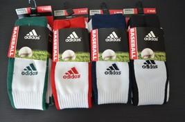 (4 Pair) Adidas Baseball Socks, Climalite, Cushioned, Compression; Small... - $14.95+