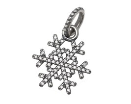 Authentic Pandora Sterling Winter Kiss Snowflake Clear CZ Pendant 390354CZ - $32.95