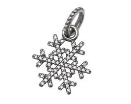 Authentic Pandora Sterling Winter Kiss Snowflake Clear CZ Pendant 390354CZ - $32.95